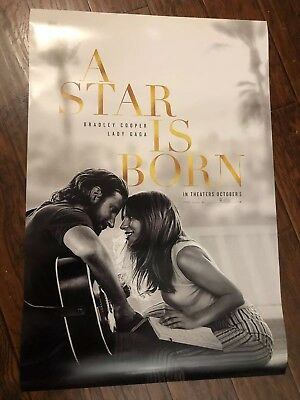 A STAR IS BORN MOVIE POSTER DS ORIGINAL FINAL 27x40 LADY GAGA BRADLEY COOPER