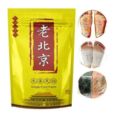 10PCS Ginger Wormwood Detox Foot Patches Anti-Swelling Detoxification Pain Patch