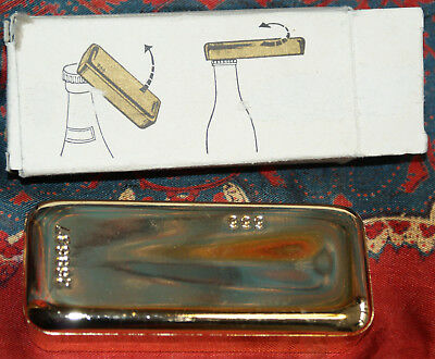 GES. GESCH. WEST-GERMANY Rare lingot d'or décapsuleur 70's Gold Bar bottleopener