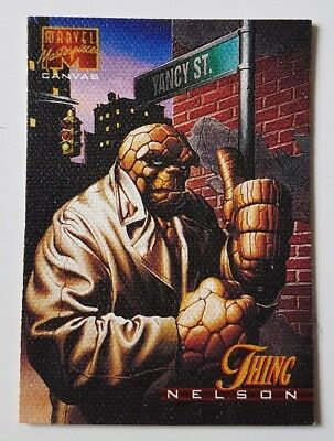 "Marvel Masterpieces Canvas Karte "" Thing "" Marvel Trading Cards"