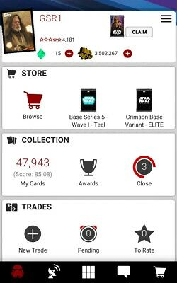 Topps Star Wars Card Trader Swct 2 Accounts Pick Any 9 Cards For $1