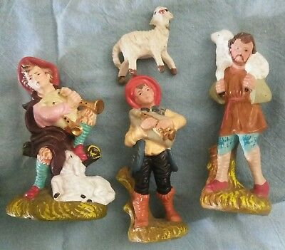 Lot Of Vintage Nativity Figurines Made In Japan