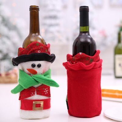 Christmas Decorations Christmas Red Wine Set Wine Bottle Decoration P2