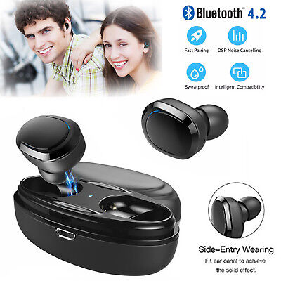 COPPIA AURICOLARI BLUETOOTH CUFFIE WIRELESS MICROFONO PER SAMSUNG IPHONE Android