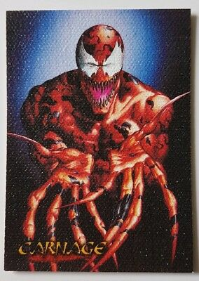 "Spider-Man Premium '96 Canvas Karte "" Garnage "" Marvel Trading Cards"