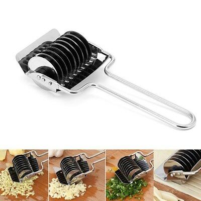 Stainless Steel Manual Noodle Maker Pasta Spaghetti Roller Dough Cutter