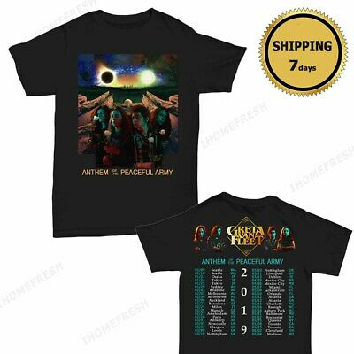 Greta Van Fleet Anthem of The Peaceful Army Concert Tour 2019 T-Shirt Men Size