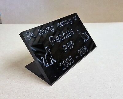 Personalised Engraved Pet Memorial Headstone Grave Marker Acrylic Plaque Cat Dog