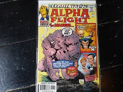 Marvel comics Alpha flight flashback #1