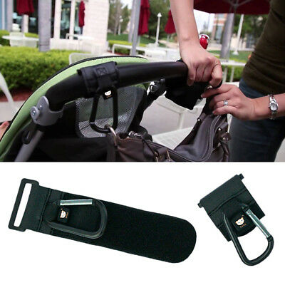 Baby Car Stroller Buggy Pram Clip Hook Hanger Bags Hooks Black Accessories New