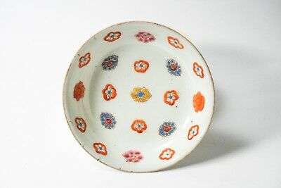 Ming Dynasty Vintage Chinese Hand Painted Flower Porcelain Plate