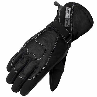 Spada Street Ladies Waterproof Thermal Motorcycle Motorbike Gloves Black Large