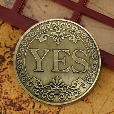 Yes No Bronze relief Commemorative Coin Metal Craft Collection Gift Fashion New