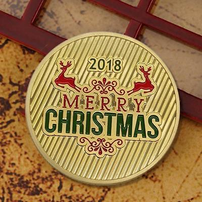 Christmas Elk Snowmobile Commemorative Coin Metal Craft Collection Gift Fashion