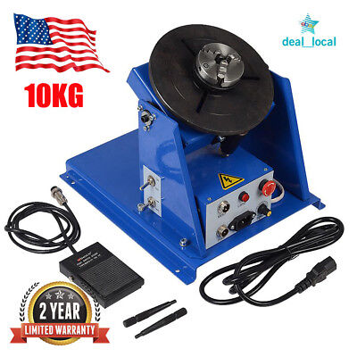 """10KG Rotary Welding Positioner Turntable Table Mini 2.5"""" 3 Jaw Lathe Chuck Hot"""