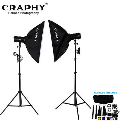 Estudio Fotografía Kit 2Strobe Studio Photography Photo Flash Light Kit Soft Box