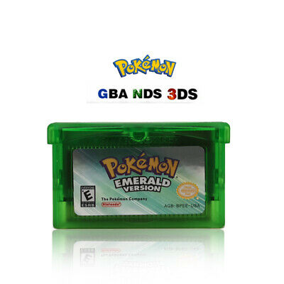 Pokemon Emerald For Nintendo Gameboy GBA Advance + Nintendo DS