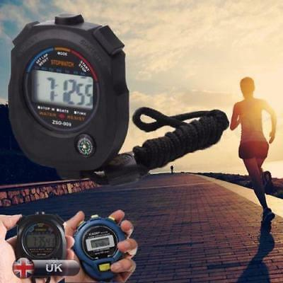New Protable Digital LCD Stopwatch Chronograph Timer Counter Sports Alarm Watch