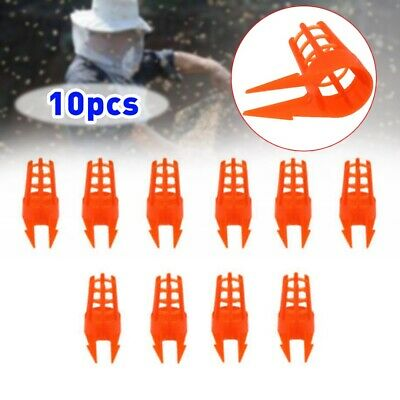 10Pcs Plastic Beekeeping Bee Rearing Cup Queen Bee Tool Beekeepers Equipment DIY