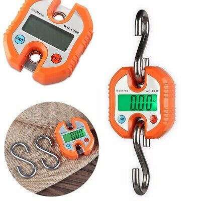 Mini Portable Crane Scale 150kg LCD Digital Electronic Hook Hanging Scale