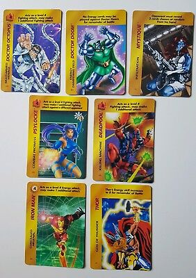 18 Marvel OverPower Card Game Karten Marvel Trading Cards