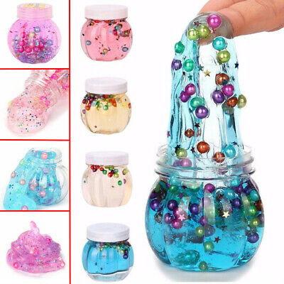 Crystal Clear Pumpkin Bottle Clay DIY Colorful Slime Toy Pearl Jelly  Kids Toys
