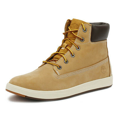 TIMBERLAND JUNIOR 6 Inch Boots Wheat Davis Square Leather