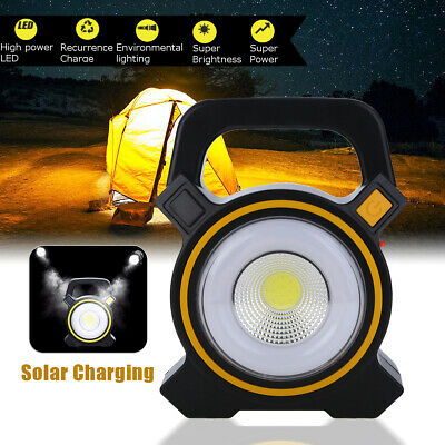Rechargeable 50w Portable LED COB Spot Flood Light Outdoor Lecture Work Lamp