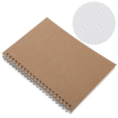 A5 Journal Notebook Notepad Hardcover Cardboard Dot Grid Spiral Journal 5mm