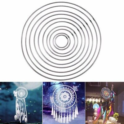 10pcs Metal Dream Hoops for Dream Catcher Ring Butterfly Macrame Craft 4.5-19CM