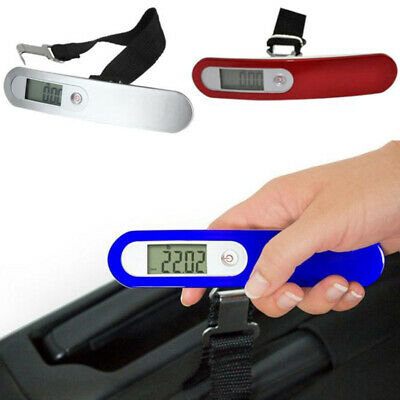 Electronic LCD Portable Digital Luggage Scale Travel Hanging Weight 50kg/10G