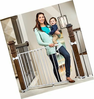 Regalo 2-In-1 Stairway and Hallway Baby Gate, Includes Banister... Free Shipping