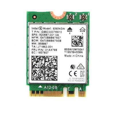 Intel WiFi Card Wireless AC 9260 NGW NGFF Dual Band 802.11ac 1730Mbps BT 5.0 HOT