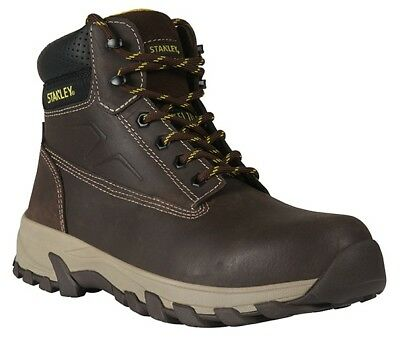 Stanley Tradesman Brown Work Safety Boots Size 7