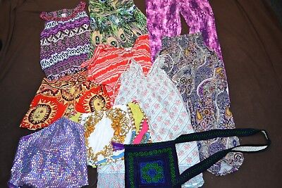Bulk lot of 10 ladies size small 8-10 hippy clothes ladies small summer hippy cl