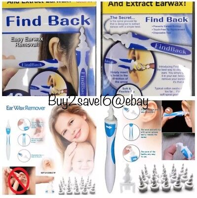 Earwax Removal Soft Spiral Ear Cleaner Smart Multifunctional Swab+16 SiliconTips