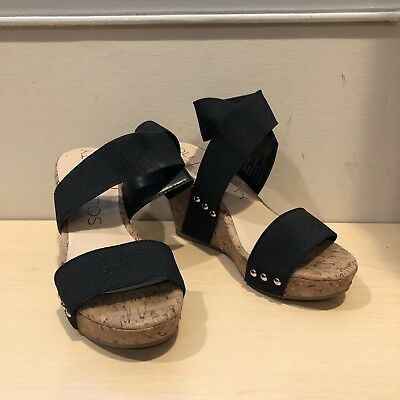 361f1d615ed SOLE SOCIETY ANALISA Black Wedge Sandal Size 5 -  30.00