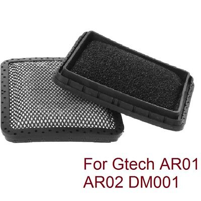 2X Hand Washable Padded Filters for Gtech AR01 AR02 DM001 AirRam Vacuum Hoover