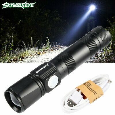 40000LM USB XML T6 LED Taschenlampe Fackel Zoom Focus Flashlight Torch 3modi