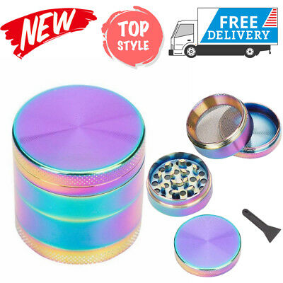 4 Layer Rainbow Colorful Zinc Alloy Herb Weed Crusher NS