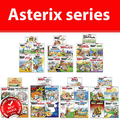 Asterix Series 1,2,3,4,5,6 and 7 collection 1-35 books Set Humour pack NEW