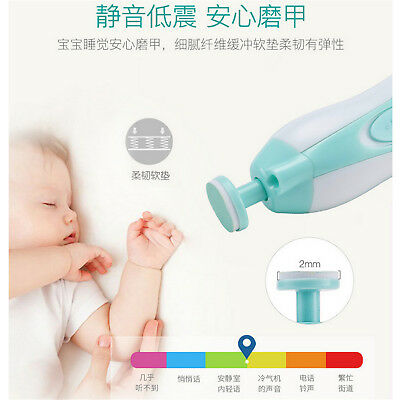 Electric Baby Nail File Tools Safe Trimmer for Newborn Toddler Toes Fingernail T