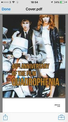 Quadrophenia 40th Anniversary Script Limited to Only 40 Copies The Who Mod