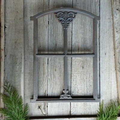 Barn Window, bauernfenster for Gazebo, Iron Window Garden Wall 46 x 31cm