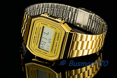CASIO Men's Digital Retro 80s Vintage Gold A-168WG-9 Watch 100% Original & Gift