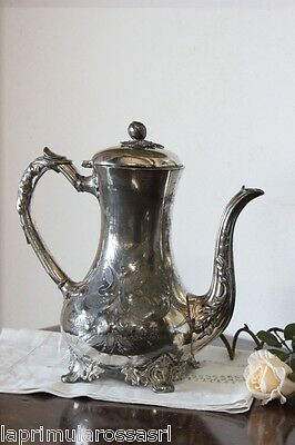 ANTIQUE COFFEE MAKER IN SHEFFIELD h 26 TEAPOT ENGLISH PERIOD '800 SILVER PLATED