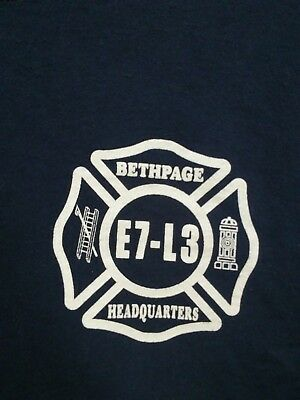Mens Large Bethpage New York Long Island Fire Department T Shirt