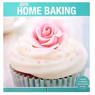 2019 Home Baking Recipes Square Wall Calendar Home Office Christmas Gift