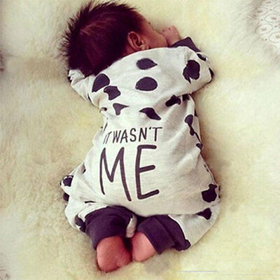 2018 Newborn Baby Boy Girl Romper Bodysuit Jumpsuit Clothes Infant Outfits New