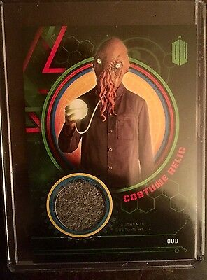 topps doctor who ood costume relic card 116 499